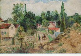 CAMILLE PISSARO-THE HIGH ROAD AT ENNERY - Pittura & Quadri