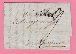 Dép4. Départements Conquis  87 Gêne  = 17.9.1811 Pour Mulhouse - Postmark Collection (Covers)