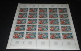 France 1968 Neuf** N° 1568 Tableau De GAUGUIN Areara Feuille Complète (full Sheet) 25 Timbres - Feuilles Complètes