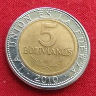 Bolivia 5 Bolivianos 2010 KM# 212  Bolivie - Bolivie