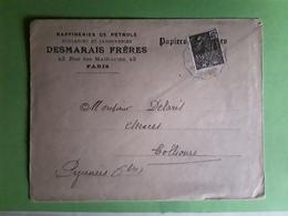 Lettre PARIS Raffineries PETROLE Huileries Savonneries DESMARAIS Frères > Essences COLLIOURE Pyrénées Orientales 1931 TB - Pétrole