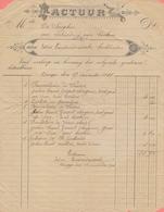 1911: Factuur Van ## Edm. VANDENDRIESSCHE, Boekbinder, BRUGGE ## Aan ## Melle DE SAEGHER (te Brugge) ## - Imprenta & Papelería