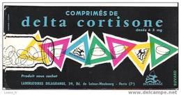 BUVARD - COMPRIMES DE DELTA CORTISONE - LABORATOIRES DELAGRANGE - PARIS - Produits Pharmaceutiques
