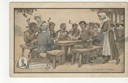 """PLYMOUTH, Massachusetts, USA, Gooding Jewelers, Advertising, """"The Harvest Feast"""", Thanksgiving, Pre-1920 Postcard - Thanksgiving"""
