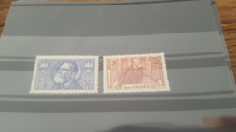LOT 429186 TIMBRE DE FRANCE NEUF** LUXE N°318/319 - Unused Stamps