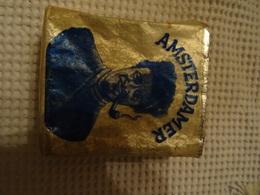 PAQUET DE TABAC VIDE - AMSTERDAMER - 80 GR. - FIJNE SNEDE - TABAC POUR LA PIPE - Boites à Tabac Vides