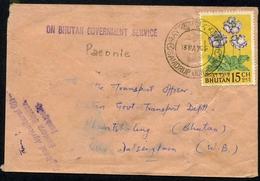 Bhutan Auf Brief MiNr. 47 Gestempelt Blumen (Blu100 - Bhután