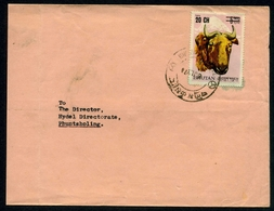 Bhutan MiNr. 357 Einzelfrankatur Echt Gelaufen (MH1609 - Bhoutan