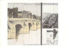 75 - Paris - PONT NEUF Empaqueté - Croquis Du Projet / Christo - Ponts
