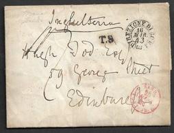 1842 LETTERA DIREZIONE DI ROMA A EDINBURGH, Scozia - 1. ...-1850 Prephilately