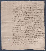 Manuscrit De 1750.Richelieu. - Manuscrits