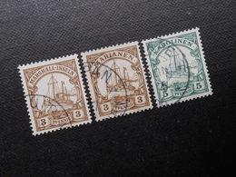 D.R. 3/3/5Pf  Diverse Deutsche Kolonien (Marshall-Inseln/Marianen/Karolinen) - Kolonie: Marshall-Inseln