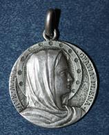 """Pendentif Médaille Religieuse """"Sainte Marie"""" Début XXe Argent 800 - Silver Religious Medal - Religión & Esoterismo"""