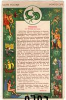 ASTRONOMIE 1 : Horoscope ; Poisson 20 Avril Au 20 Mars ; édit. M D Paris Série Horoscope C - Astronomie