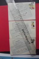 Cp Telegrammes Humour Lot 3 Cartes - Poste & Facteurs