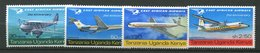 Uganda-Kenya - Tanzanie ** N° 157 à 160 - Compagnie East African Airways - Timbres