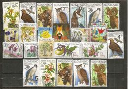 Oiseaux Et Faune De Slovaquie, 24 Beaux Timbres Oblitérés, Bonne Qualité - Slovaquie