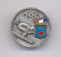 OLD SKI SKING FRANCE GRENOBLE 1968  INSIGNE BROCHE  BADGE - Winter Sports