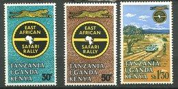 Uganda-Kenya - Tanzanie ** N° 133 à 135 -  Rallye Safari - Timbres