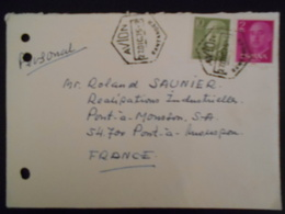 Espagne , Lettre De Santender 1975 Pour Pont A Mousson , Cachet Avion - 1931-Aujourd'hui: II. République - ....Juan Carlos I