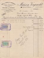 1923: Facture De La ## Maison VERGRACHT, Quai, 6/Kaai, 6, YPRES ## à ## Mr. Hector VERMEULEN, Café De La Station, E/V ## - Other