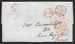 1843 Entire - MANCHESTER To PARIS Over BOULOGNE - Grossbritannien