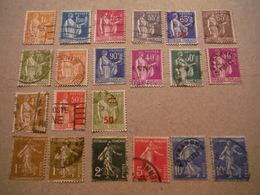 Timbres Des Années 1930 - Semeuses Et Type Paix - Neufs Et Oblitérés - Used Stamps