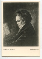 Ludwing Van Beetwoven - Portrait - Cp Vierge - Artisti