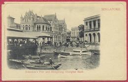 Johnston's Pier And Hongkong Shanghai Bank, Singapore (TTB) - G R Lambert & Co - S'pore-CPA Old Collection-Singapore - Singapour