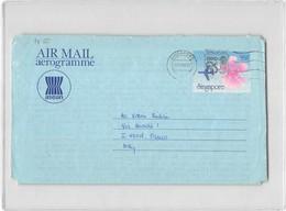 4027 03  AEROGRAMME SINGAPORE 1986 - EXPO POSTMARK - Singapour (1959-...)