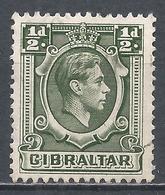 Gibraltar 1938. Scott #107 (U) King George VI * - Gibraltar