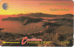 ANTIGUA & BARBUDA(GPT) - English Harbour, CN : 13CATD/B(silver Band), Tirage 15007, Used - Antigua And Barbuda