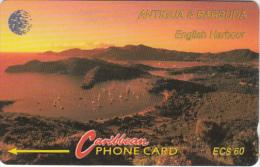 ANTIGUA & BARBUDA(GPT) - English Harbour, CN : 13CATD/B(silver Band, Noremal 0), Tirage 15007, Used - Antigua And Barbuda