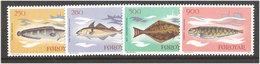 Faroe Islands 1983 Fish, Mi 86-89, MNH(**) - Féroé (Iles)