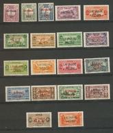 Colonie LATTAQUIE N°1 à 19 Neuf * TB. Cote 190€. H2150 - Lattaquié (1931-1933)