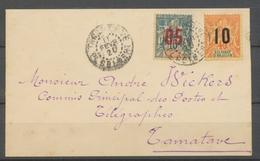 1920 Env. Colonie Sultanat Anjouan N°22 +26 Obl TANANARIVE H2155 - Anjouan (1892-1912)