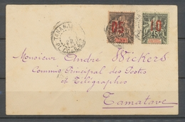 1920 Env. Colonie Sultanat Anjouan N°24 +27 Obl TANANARIVE H2156 - Anjouan (1892-1912)