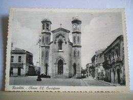 1965 - Siracusa - Rosolini - Chiesa SS. Crocifisso - Via G. Meli - Animata - Cartolina D'epoca - Chiese E Conventi