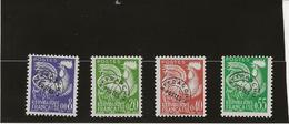 TIMBRES PREOBLITERES  - TYPE COQ GAULOIS N° 119 A 122 NEUF SANS CHARNIERE - ANNEE 1960 - COTE : 45 € - 1953-1960