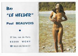 """03 - VICHY - PETIT CALENDRIER  -   Femme Nue  -  1978 - Bar """" Le Helder """" - Paul BEAUVOIS - Petit Format : 1971-80"""