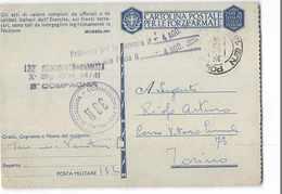 AG1054 02 POSTA MILITARE 132 - 132 REGGIMENTO CARRISTA X BATTAGLIONE CARRI MEDI 14 41 X TORINO - 1900-44 Vittorio Emanuele III