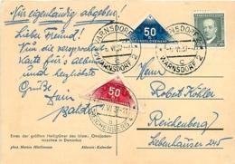 CPI TP 309, 320 + 320 A (Yv.) Varnsdorf 2 > Liberec 4  1937  Timbres Pour Remise En Main Propre - Tchécoslovaquie