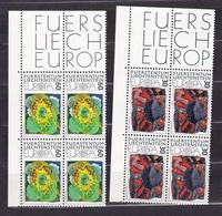 1975 Liechtenstein EUROPA CEPT EUROPE 4 Serie Di 2v. Quartina MNH** Bl.4 - Europa-CEPT
