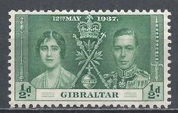 Gibraltar 1937. Scott #104 (M) Coronation Of King George VI * - Gibraltar
