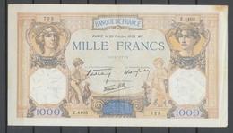 20/10/1938 Billet 1000 Fr Cérès Et Mercure TB H2066 - 1871-1952 Frühe Francs Des 20. Jh.
