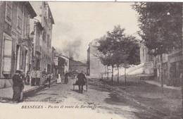 30. BESSEGES. CPA. ANIMATION. POSTES ET ROUTE DE BORDEZAC. ANNEE 1915 + TEXTE - Bessèges