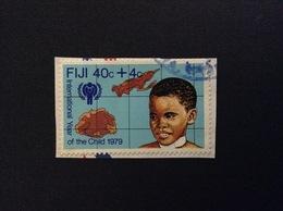 1979 FIJI INTERNATIONAL YEAR OF THE CHILD 40 C + 4 C FRANCOBOLLO USATO STAMP USED - Fidji (1970-...)