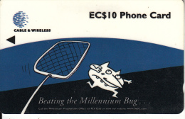 ST. LUCIA ISL.(GPT) -  Beating The Millennium Bug, CN : 321CSLB, Tirage 30000, Used - St. Lucia