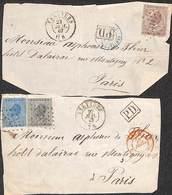2 Fragments De Pli 10 20 & 30 Cents Verviers 1967 Griffe PD - Belgique
