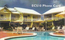 ST. LUCIA ISL.(GPT) -  The Bay Gardens Hotel, CN : 310CSLA, Tirage 20000, Used - Santa Lucía